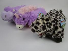 3 NEW Pillow Pet Pee Wees Plush Stuffed Animal Pals Lot Unicorn T-Rex Hi... - $32.73
