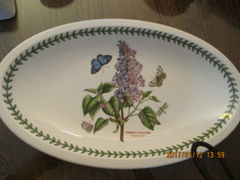 "Portmerion Botanic Garden Lilac Platter 13""x 8"" - $25.74"