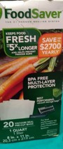 "FoodSaver Value Combo Pack: 8""Roll Four x 11"" Rolls 20 Pre-Cut Quart Siz... - $7.70"