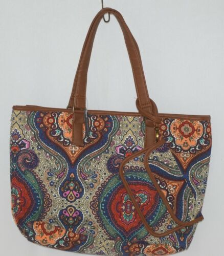 Howards Product Number 68985 Large Shoulder Bag Multi Color Paisley Print