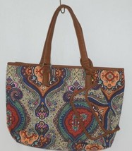 Howards Product Number 68985 Large Shoulder Bag Multi Color Paisley Print image 1