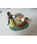 Disney Snow White Dopey & Grumpy (Dwarf Jewels) Mini Snow Globe Rare Col... - $25.74