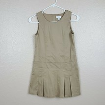 The Children's Place Girls Uniform Sleeveless Dress Size 10 Stretch Beig... - $15.83