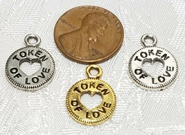 TOKEN OF LOVE FINE PEWTER PENDANT CHARM - 12.5x17x1.5mm image 2
