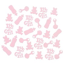 It's A Girl Pink Baby Shower Confetti (2 Oz) - $5.69