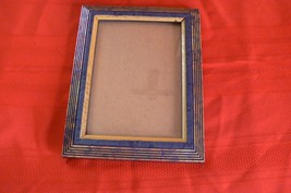 "Unbranded Blue Gold Bronze Colored 5 "" X 7 "" Picture Frame - $3.95"