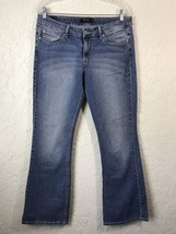 Levi's 518 Superlow Women's Stretch Blue Jeans Jr's Size 11M Distressed ... - $11.02