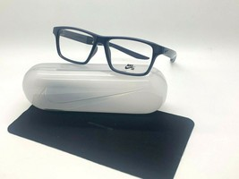 New Nike 7112 420 Dark Blue Optical Eyeglasses 53-15-145MM /CASE &Cloth - $57.77