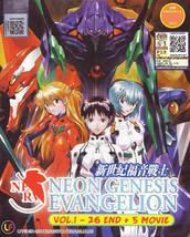 NEON GENESIS EVANGELION TV 1 - 26 +5 MOVIE Anime DVD Box Set Ship From USA