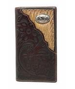 Western Tooled Genuine Leather Cowhide Cow fur Praying Cowboy Men's Long... - $18.76