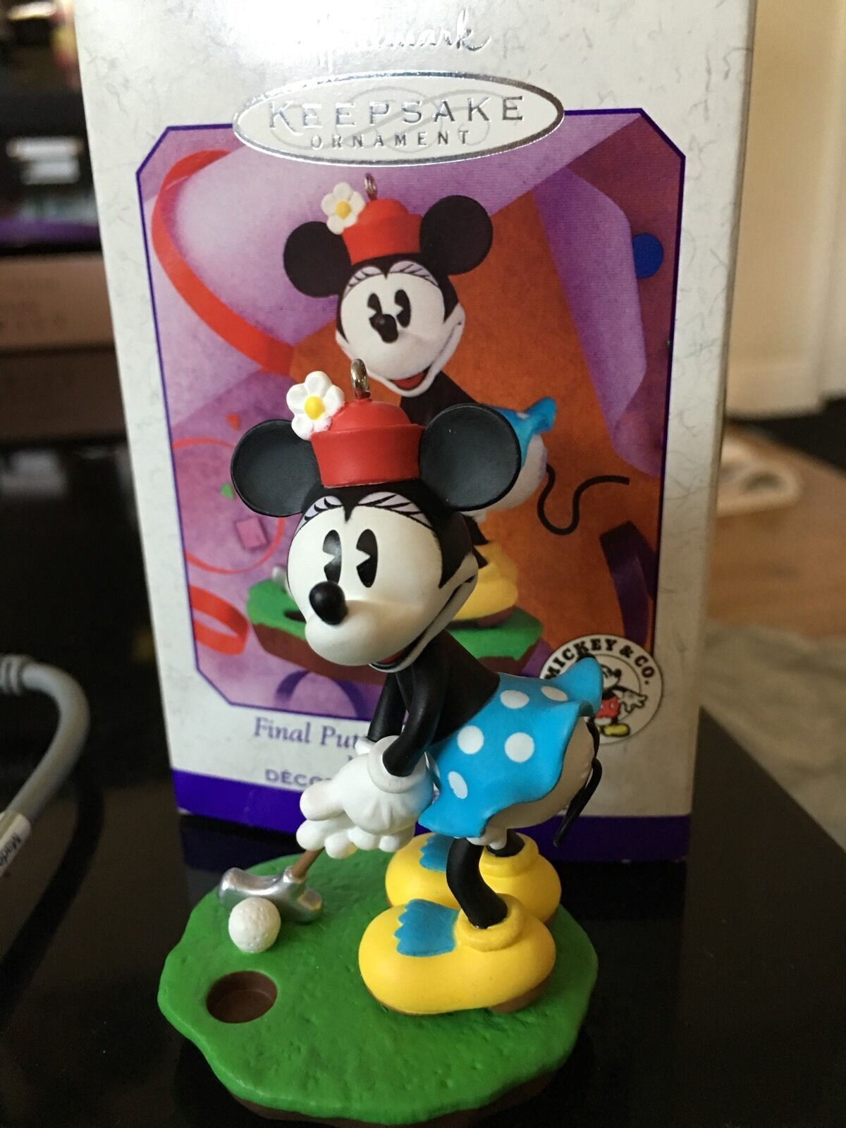 Primary image for Final Putt Minnie Mouse Hallmark 1999 Ornament Mickey & Co. Spring Or Christmas