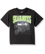 NFL Seattle Seahawks T-Shirt Logo over Helmet Black Short Sleeve SZ 18M Gerber - $14.95