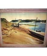 BEACHED DOCKS SIGNED/BY EVERETT WILLIAM SAHRBECK - $299.95