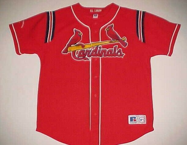 Primary image for St. Louis Cardinals Baseball Central Champions MLB NL Red Yellow Blue Jersey XL