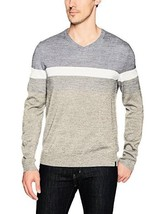 Calvin Klein Men's Merino Color Block Stripe V-Neck Sweater - Choose SZ/... - $86.95+