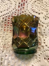 IMPERIAL GLASS Iridescent Carnival Starburst Candle Votive / Toothpick H... - $17.82