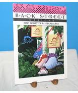 1988 BACK STREET DESIGN DINO DOORSTOP II STEGASAURUS SEWING CROSSSTITCH PATTERN - $12.38