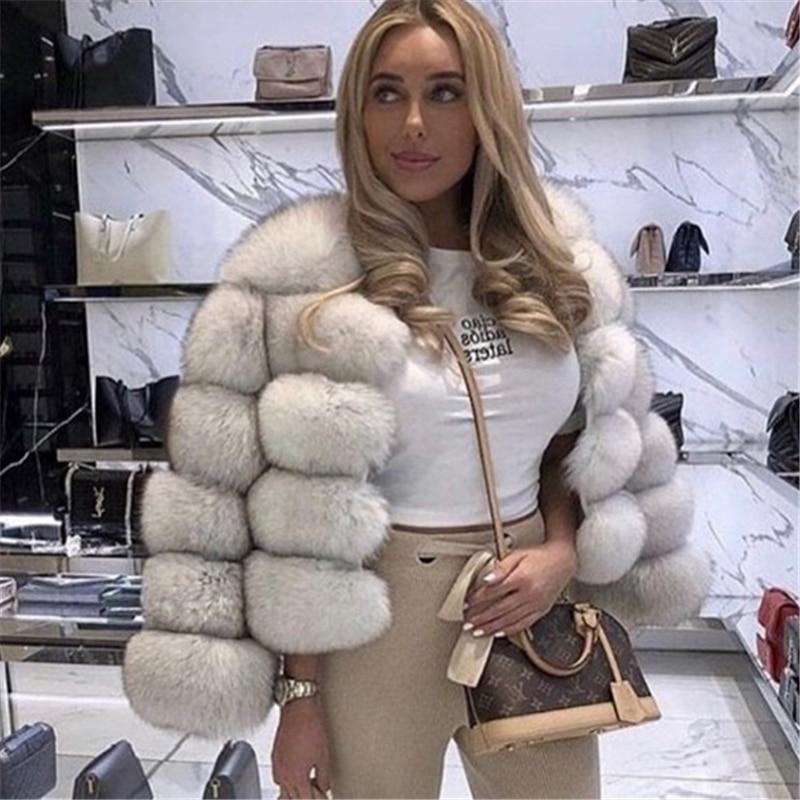 Fashion women faux fur coat autumn winter jacket new casual warm thick coat women
