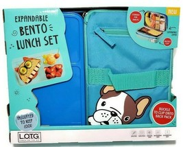 Fit & Fresh Dog Pug Bento Lunch Box On The Go Expandable Insulated Schoo... - $29.69