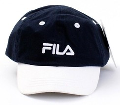 Fila Signature Dark Blue & White Cap Hat Toddler One Size NWT - $14.99