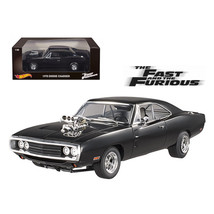 1970 Dodge Charger Black The Fast & Furious Movie (2001) 1/18 Diecast Mo... - $159.47