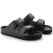 AUTHENTIC BIRKENSTOCK MONTEREY EXQUSITE BLACL LEATHER SANDALS SIZE MENS 42. - $261.24 CAD