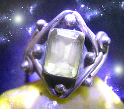 HAUNTED RING THE MASTER CIRCLE BEACON OF LIGHT GUIDE THE WAY SECRET OOAK... - $4,550.39