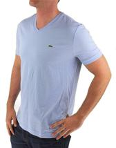 NEW NWT LACOSTE MEN'S ATHLETIC COTTON V-NECK  T-SHIRT MINERAL TH6604 51 L63 image 3