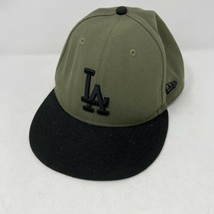 New Era Los Angeles Dodgers Olive Green Fitted Baseball Hat Size 7 3/4 - $14.84