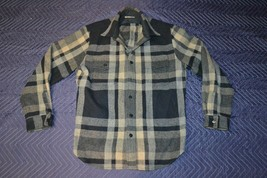 WALLACE & BARNES Black/Gray Lumberjack Flannel LARGE Jacket/Coat/Shirt B... - $30.04