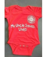 MY UNCLE SAVES LIVES  Infant One Piece with Maltese Cross - OVERSTOCK SALE - $8.99
