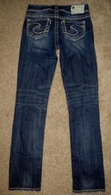 Silver Suki Straight Denim Jeans Buckle Size 25 - $37.14