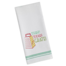 "Make Today Grate Dish Towel Funny Tea Kitchen New 100% Cotton 18"" x 28"" - $13.85"
