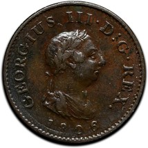 Rare 1806 Great Britain Farthing KM# 661 Coin Lot # A 424