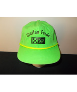VTG-1980s Purina Chow Dog Farming Ag Steffan Feeds rope neon green hat s... - $27.83