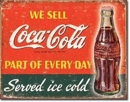 Coca Cola Coke Part of Every Day Advertising Vintage Retro Style Metal T... - $14.99