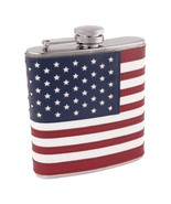 Flasks, 6ounce American Flag Pocket Flask Metal - Stainless Steel - $43.79