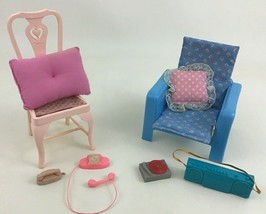 Barbie 10pc Lot Living Room Accessory Replacement Parts Pieces Toys 2000... - $18.66