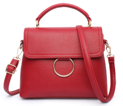 Mixed Color Women Shoulder Bags Solid Color Leather Handbags G245-1 - ₨2,525.54 INR+
