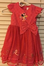 Disney Store Minnie Mouse Dress Pink White Polka Dot Size 4 Costume - $5.99