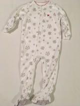 Carters Snowflake Sleeper Size 24 Months Toddler Girl Footed Pajamas PJs... - $13.22