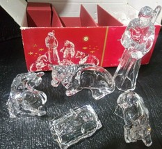 Vintage Cristal d'Arques 5 Piece Christmas Nativity Set 24% Lead Crystal [bbb1] - $39.99
