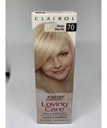 Clairol Loving Care Hair Color Crème Lotion # 70 Beige Blonde - $39.99