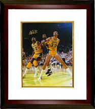 Magic Johnson signed Los Angeles Lakers 16x20 Photo Custom Framed (vs Ka... - £136.72 GBP