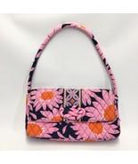 Vera Bradley Knot Just a Clutch Loves Me Pink Navy Orange Daisy Purse Ha... - $19.30