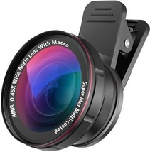 AMIR 2 In 1 Camera Lens Kit With 0.45X Wide Angle Lens + 15X Macro Lens... - $26.77