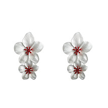 Yup Trendy Sweet Romantic Baroque Flower Dangle Earrings Zinc Alloy Gold... - $8.22