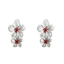 Yup Trendy Sweet Romantic Baroque Flower Dangle Earrings Zinc Alloy Gold... - $8.22