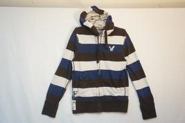 American Eagle Heavy Full-Zip Hoodie, Striped, Almost Unused, Men's Smal... - $24.73