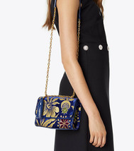 Tory Burch Fleming Floral Convertible Small Shoulder Bag In Velvet Cosmi... - $299.00